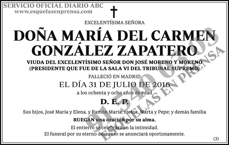 María del Carmen González Zapatero